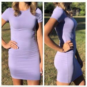 Dresses & Skirts - Purple lilac bodycon tshirt dress